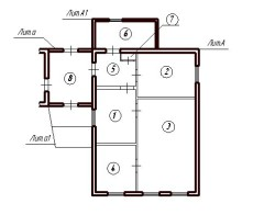 План дома до раздела в натуре